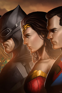 240x400 Justice League Movie Artwork