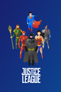 1125x2436 Justice League Superheroes Illustration 4k