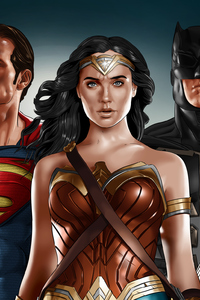 1440x2560 Justice League Superman Wonder Woman Batman