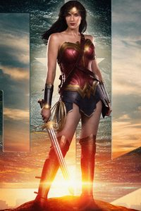 480x800 Justice League Wonder Woman 4k 2018
