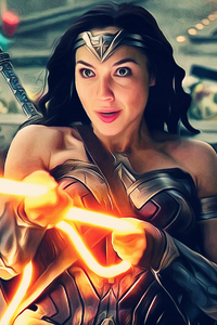 320x568 Justice League Wonder Woman 4k