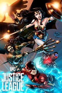 640x1136 Justice League Wonder Woman Superman Batman