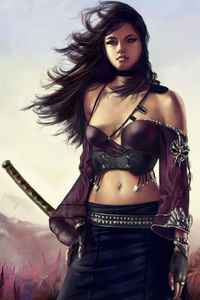 Katana Warrior Girl