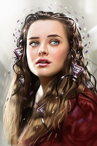 1280x2120 Katherine Langford 13 Reasons Why Illustration