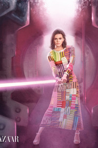 Kendall Jenner In Star Wars Inspired Editorial Harper Bazaar