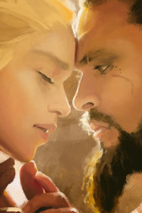 320x480 Khal Drogo And Daenerys Love