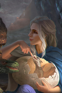 240x320 Khalessi With His Dragons