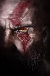 2160x3840 Kratos God Of War 4 Artwork