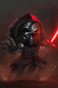 1280x2120 Kylo Ren Cartoon Art