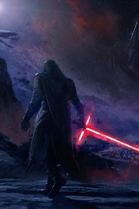 240x320 Kylo Ren Star Wars Art