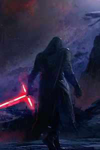 240x320 Kylo Ren Star Wars Artwork 4k