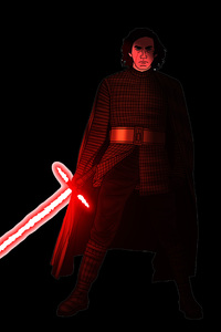 1280x2120 Kylo Ren Star Wars Artwork 5k