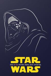 Kylo Ren Star Wars Illustration 320x480