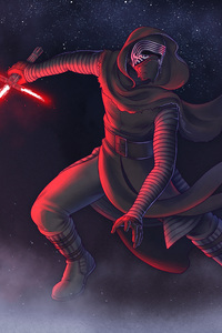 240x320 Kylo Ren Star Wars The Last Jedi Artwork
