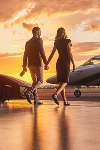 1080x2280 Lamborghini Business Private Jet Married Couple