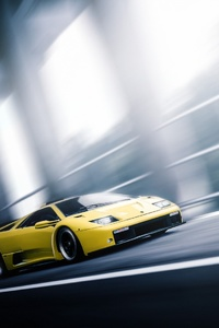 720x1280 Lamborghini Diablo In Motion