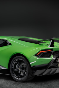 1440x2560 Lamborghini Huracan Performante 2019 Rear