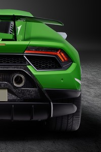1440x2560 Lamborghini Huracan Performante 2019 Rear View