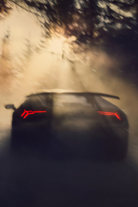 1440x2560 Lamborghini Huracan Performante From Back