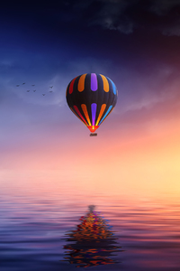 1280x2120 Landscape Hot Air Balloon