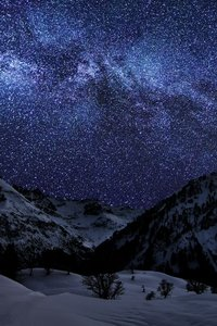 Landscape Mountains Galaxy