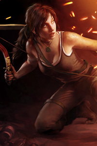 320x480 Lara Croft 5k