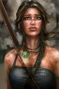 800x1280 Lara Croft Artworks 5k