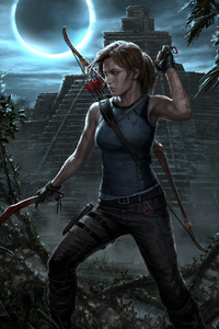 1280x2120 Lara Croft Shadow Of The Tomb Raider 4k