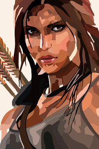 540x960 Lara Croft Tomb Raider Vector Art 4k