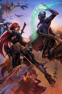 2160x3840 League Of Legends Fantasy Artwork 8k
