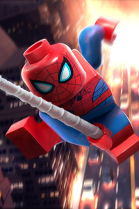 480x800 Lego Spiderman 5k