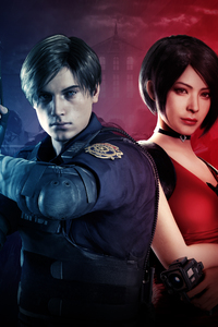 1125x2436 Leon And Ada Wong Resident Evil 2 2019 8k