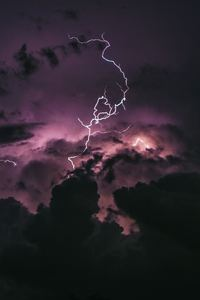 1280x2120 Lightning In Clouds
