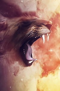 Lion Roar Abstract Art