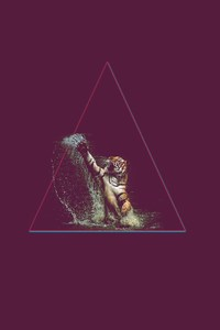 Lion Triangle Art
