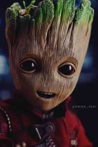 640x960 Little Baby Groot 4k