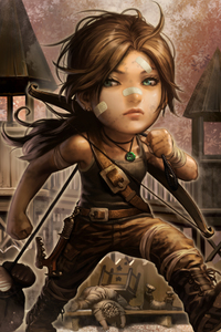 1440x2560 Little Lara Croft
