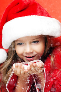 640x1136 Little Santa Girl Christmas