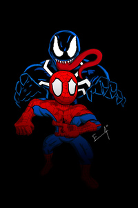 800x1280 Little Spider Man And Venom