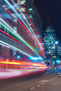 London Light Trails
