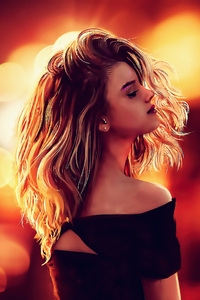 1080x1920 Long Blonde Hair Artwork 4k