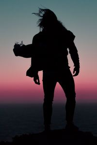 Long Hair Man Silhouette 5k