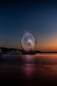 800x1280 Longexposure Beautiful Ferris Wheel 5k