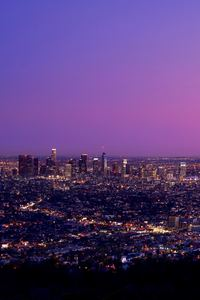 320x568 Los Angles City Sky 8k