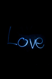 2160x3840 Love Long Exposure Typography
