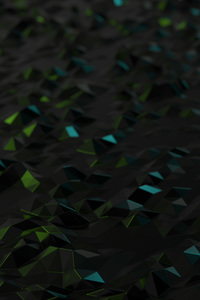 240x320 Low Poly Neon Metal 4k