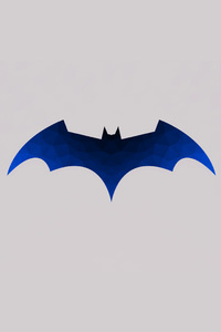 640x1136 Low Polygon Batman Logo