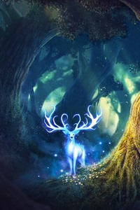 Magic Forest Fantasy Deer