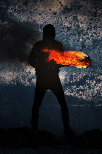 1440x2560 Man With Fire