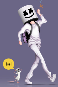 320x480 Marshmello Alone Art